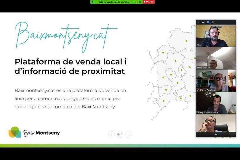 Representació dels comerciants del poble amb l'Ajuntament de Gualba