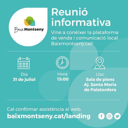 Reunió Informativa divendres 31 de juliol a Palautordera